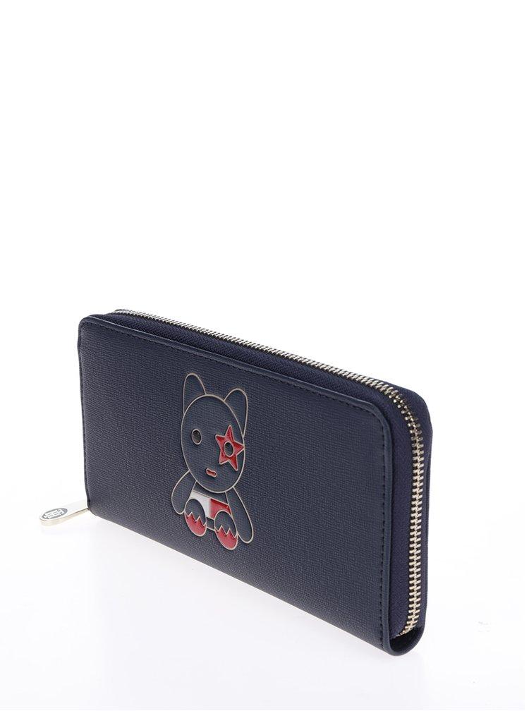 Tmavě modrá peněženka s motivem medvěda Tommy Hilfiger Mascot