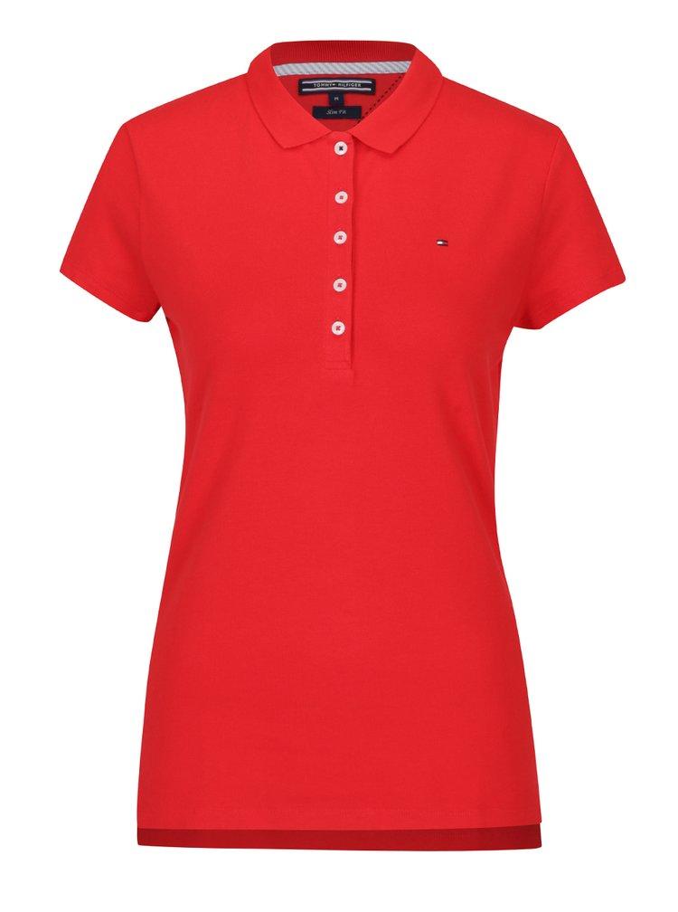 Červené dámské polo tričko Tommy Hilfiger New Chiara