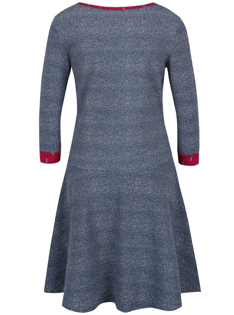 Šedomodré žíhané mikinové šaty Blutsgeschwister