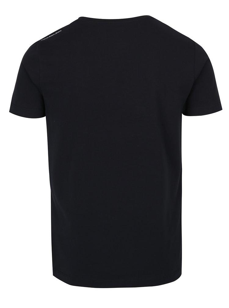 Černé pánské tričko s potiskem Calvin Klein Jeans TiSpeed