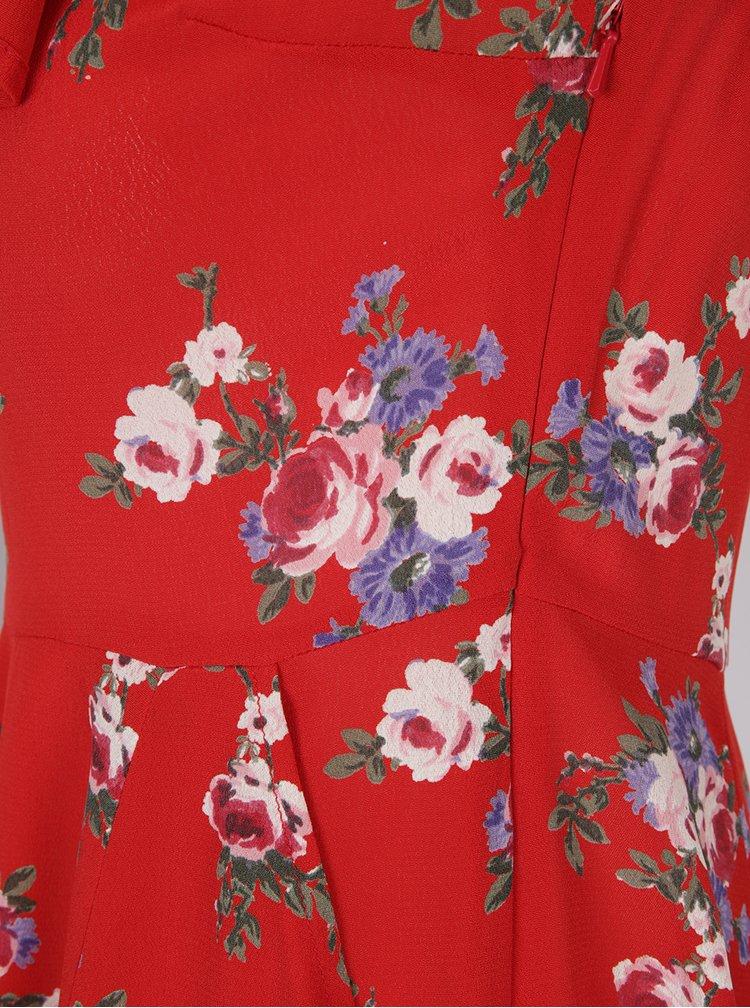 Rochie rosie clos cu decolteu pe umeri - Miss Selfridge
