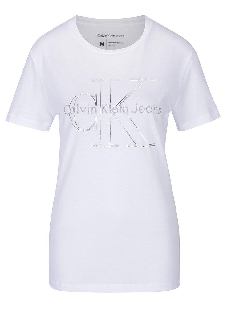 Bílé dámské tričko s potiskem Calvin Klein Jeans Tanya