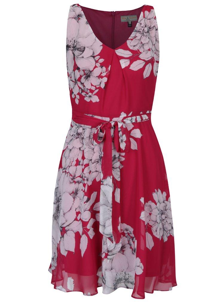 Růžové květované šaty bez rukávů Billie & Blossom Petite