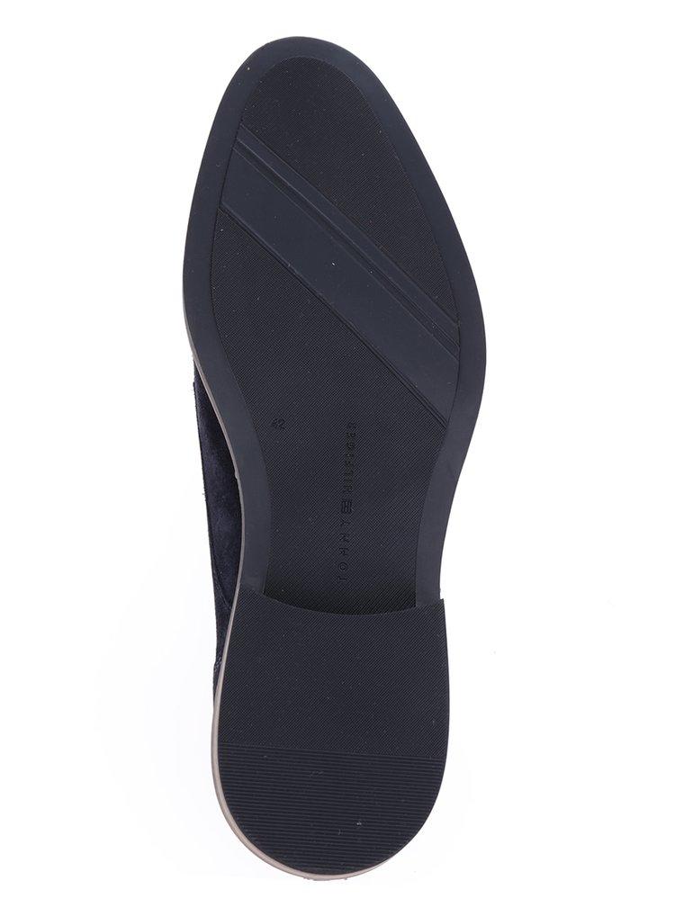 Tmavě modré pánské semišové polobotky Tommy Hilfiger Essential