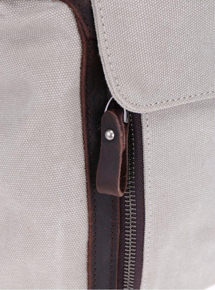 Rucsac bej cu detalii din piele Urban Bag
