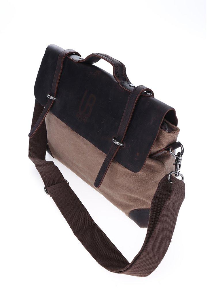 Hnědá kožená taška Urban Bag