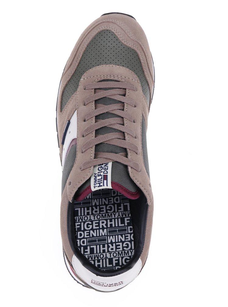 Hnědé pánské tenisky s koženými detaily Tommy Hilfiger Baron