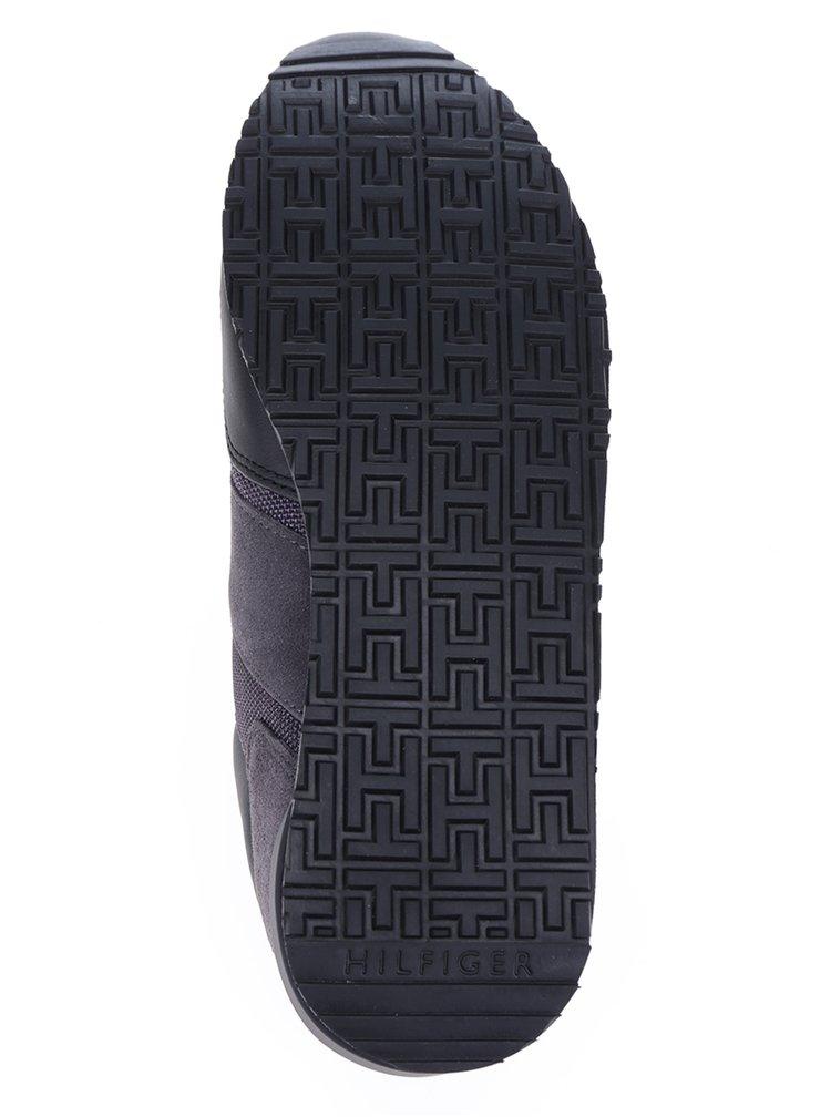 Šedo-černé pánské tenisky s koženými detaily Tommy Hilfiger Maxwell