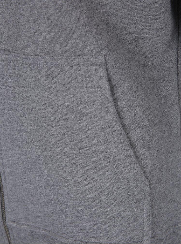 Šedá dámská mikina s kapucí a potiskem Calvin Klein Jeans Hali