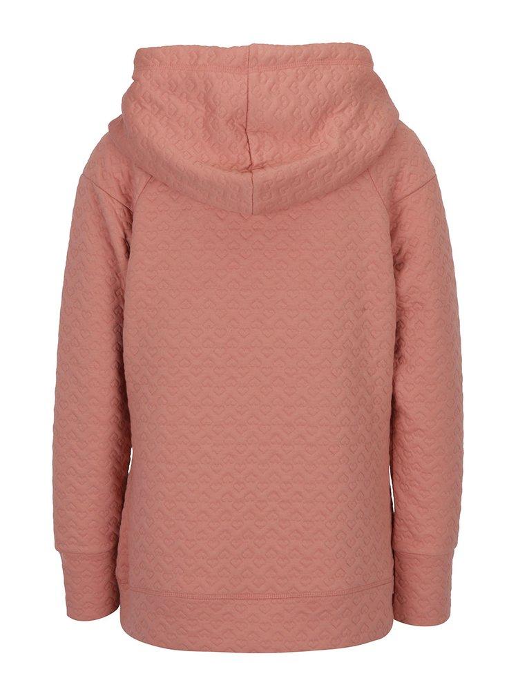 Pulover roz pal cu gluga - ONLY Ann