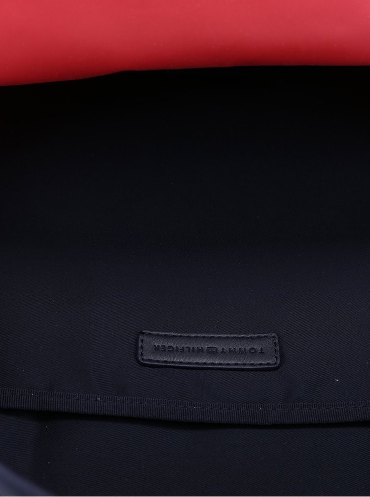 Krémovo-červený dámský batoh Tommy Hilfiger Poppy CB