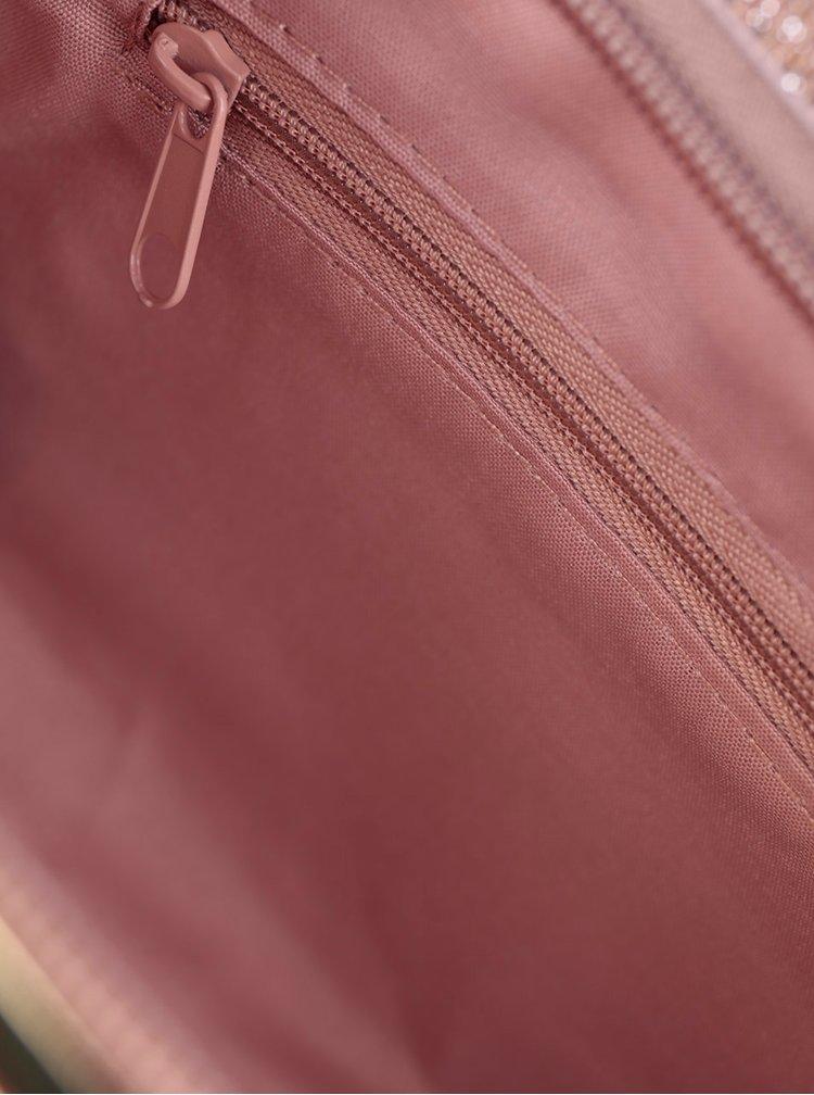 Metalické psaníčko v růžovozlaté barvě Dorothy Perkins