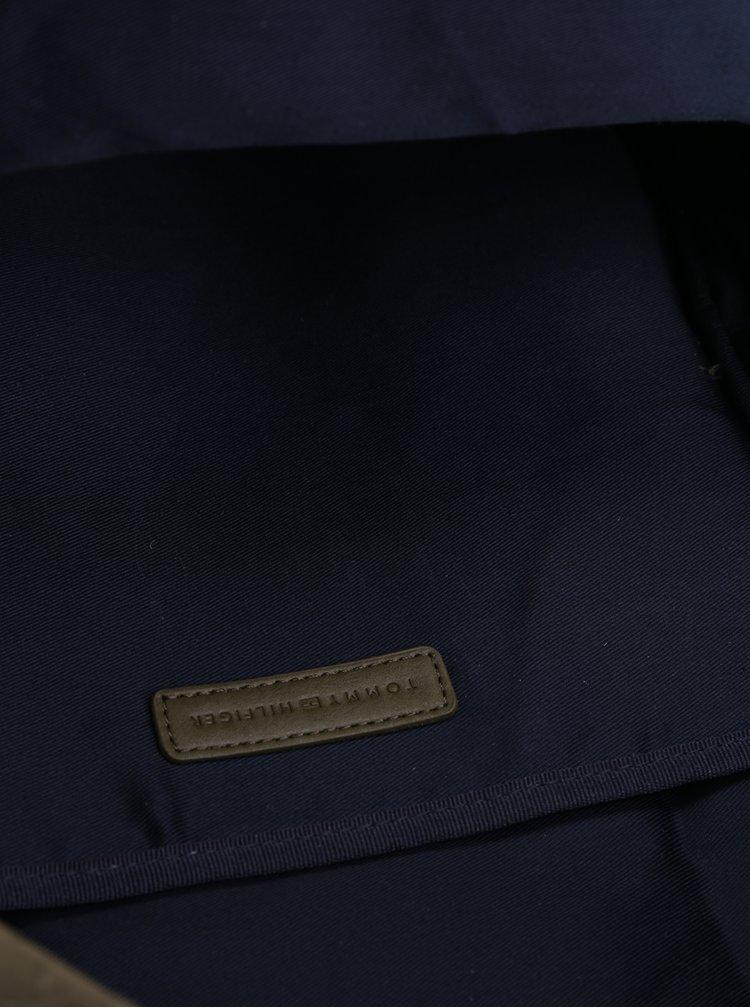 Zelený dámský batoh s jemným vzorem Tommy Hilfiger Poppy Quilted