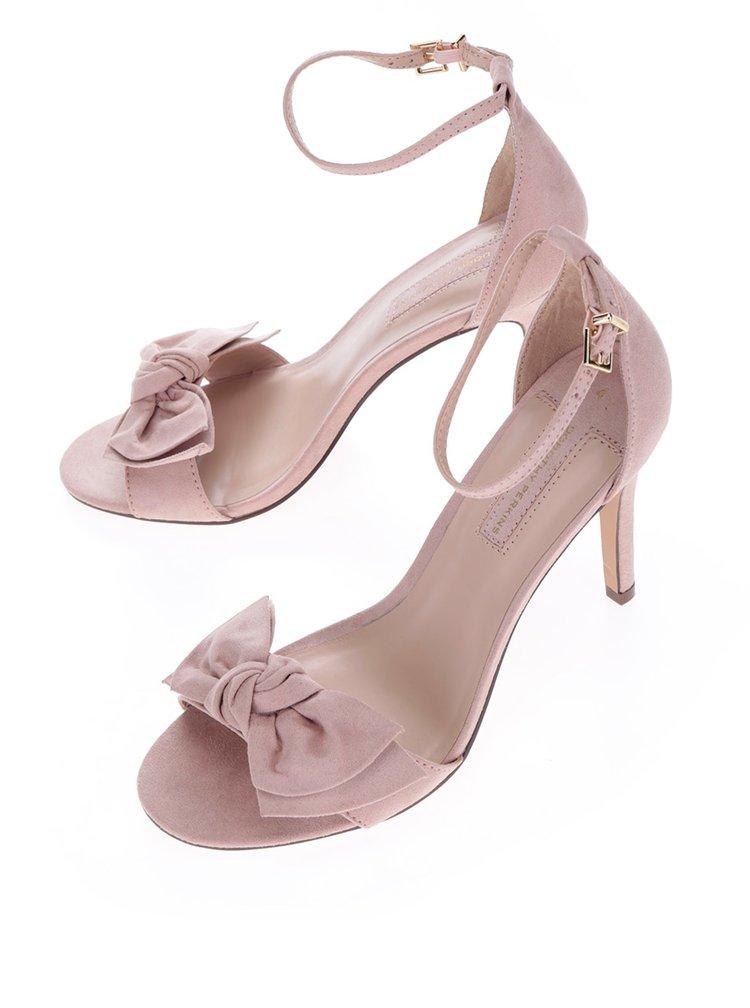 Staroružové sandálky v semišovej úprave na podpätku Dorothy Perkins