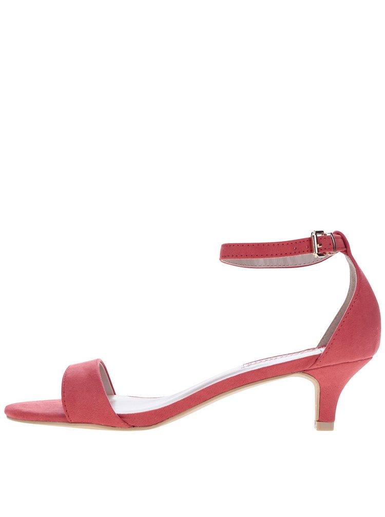 Sandale roșii cu toc kitten Dorothy Perkins