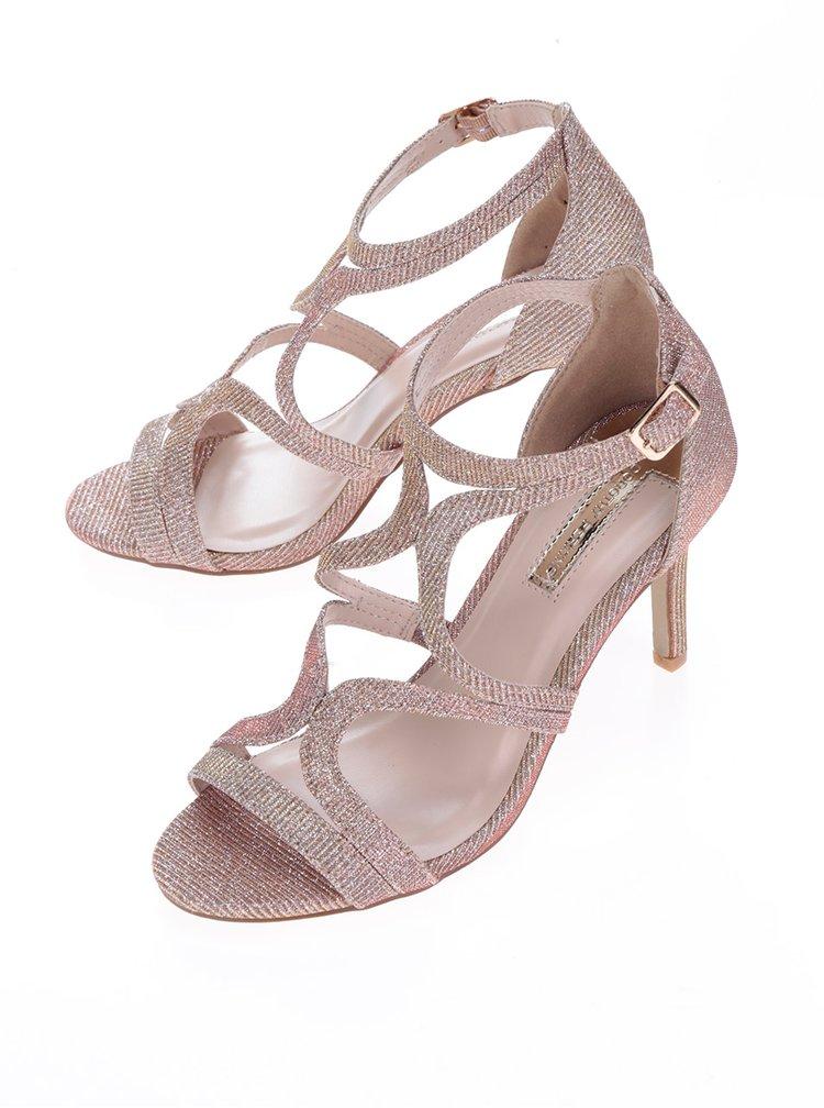 Sandale auriu rose cu toc stiletto Dorothy Perkins