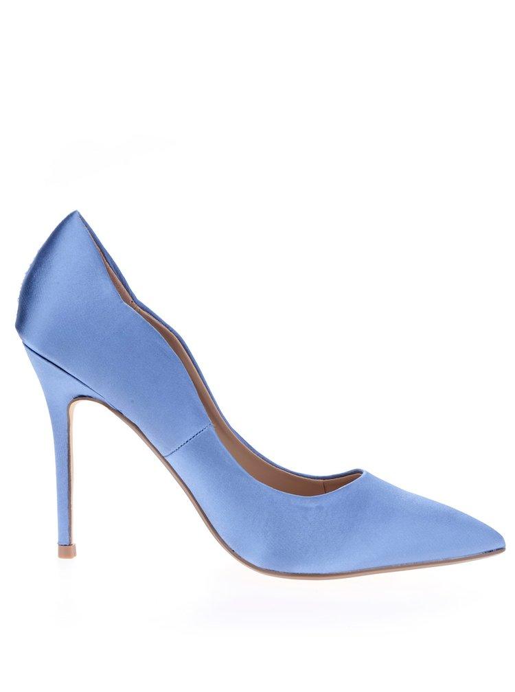 Modré lesklé lodičky na jehlovém podpatku Dorothy Perkins