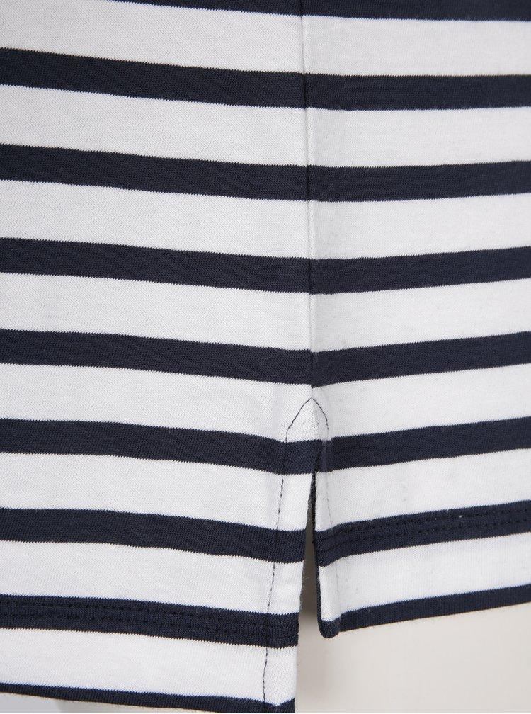 Modro-krémové dámské pruhované tričko Tommy Hilfiger Flock