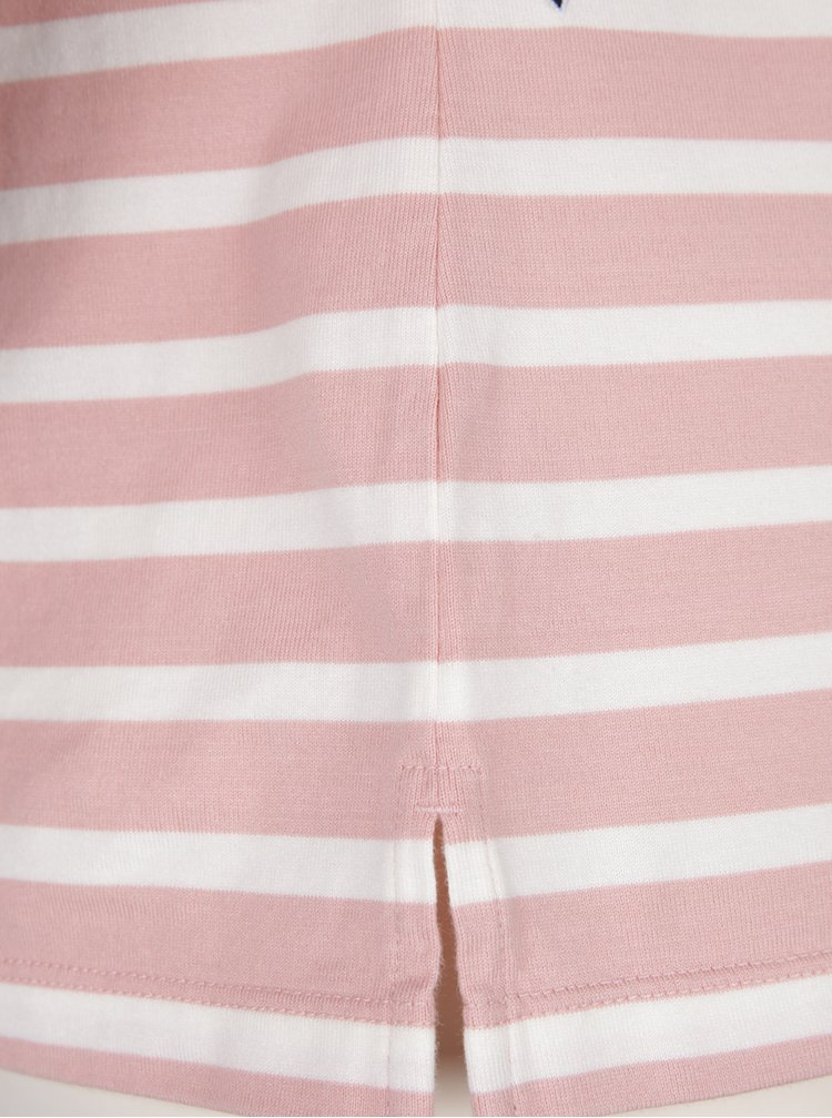 Růžové dámské pruhované tričko Tommy Hilfiger Myra