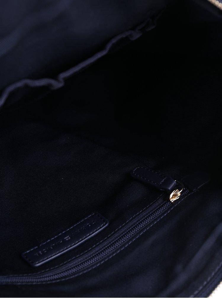 Tmavě modrá kabelka s jemným vzorem Tommy Hilfiger Poppy Quilted