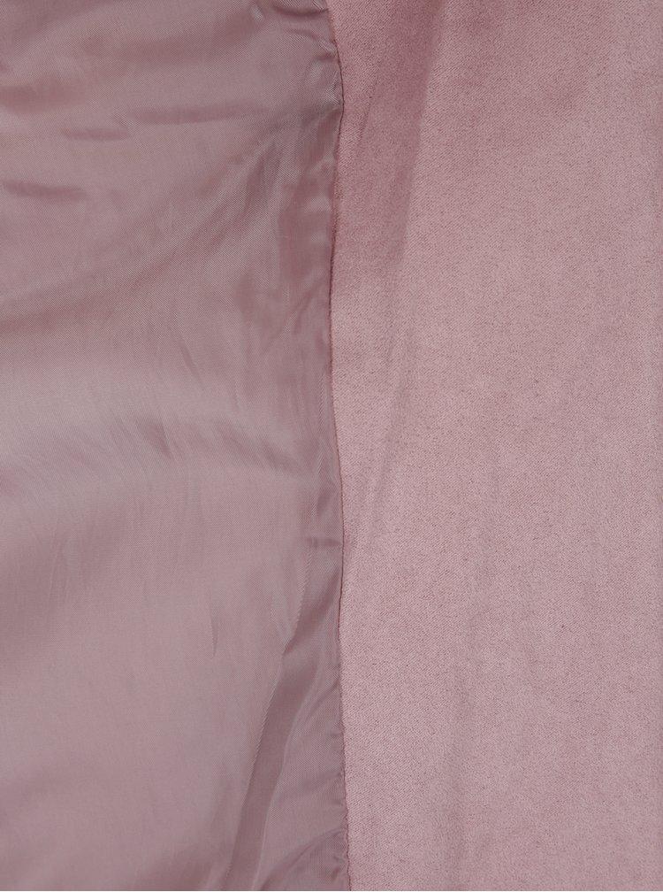 Světle růžový křivák v semišové úpravě Jacqueline de Yong Penny