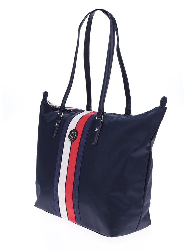 Tmavě modrá kabelka s pruhy Tommy Hilfiger Poppy Stripe