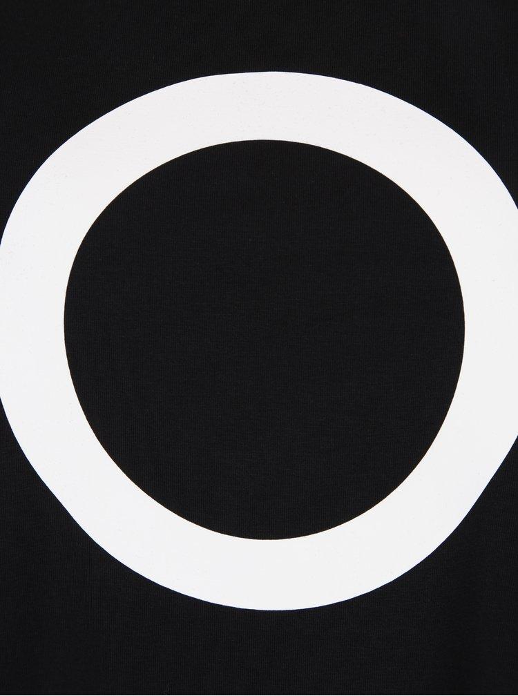 Černé volné balónové šaty s potiskem a kapsami Mikela da Luka