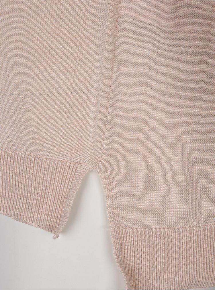 Růžový svetr s krajkovými detaily ONLY Maia