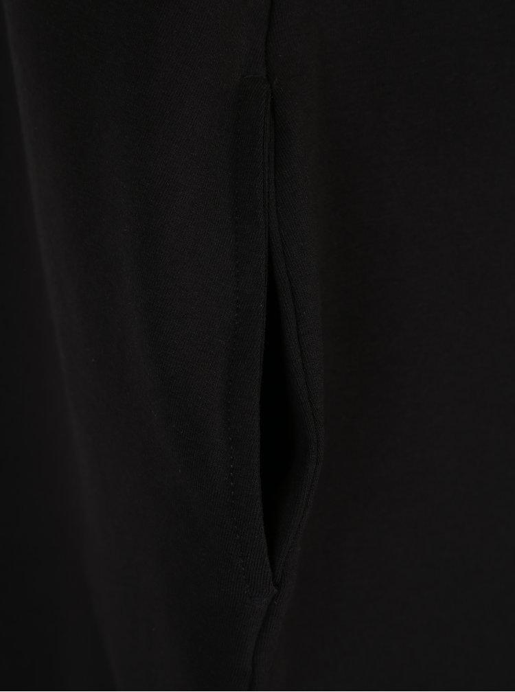 Černé volné balónové minišaty s potiskem a kapsami Mikela da Luka