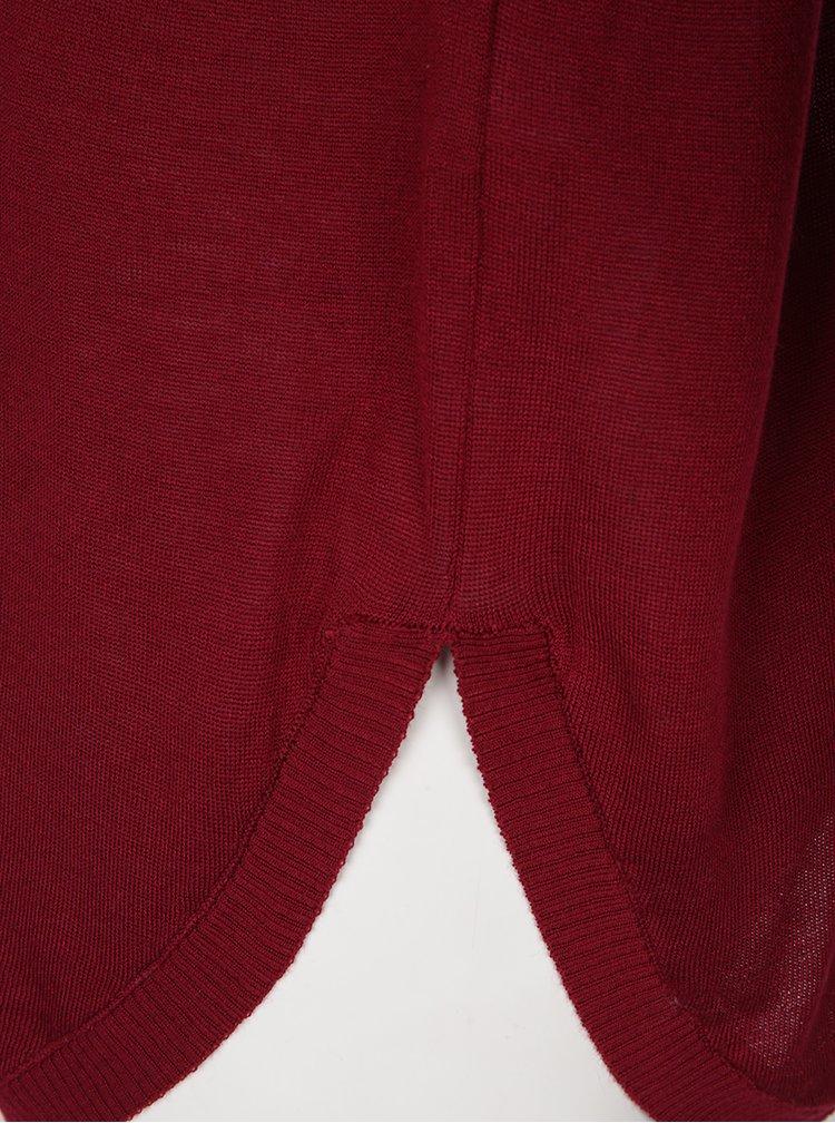 Pulover oversized roșu bordo - ONLY Sky
