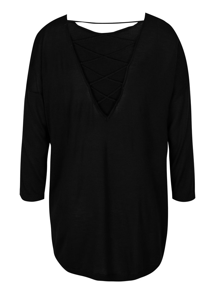 Pulover oversized negru - ONLY Sky