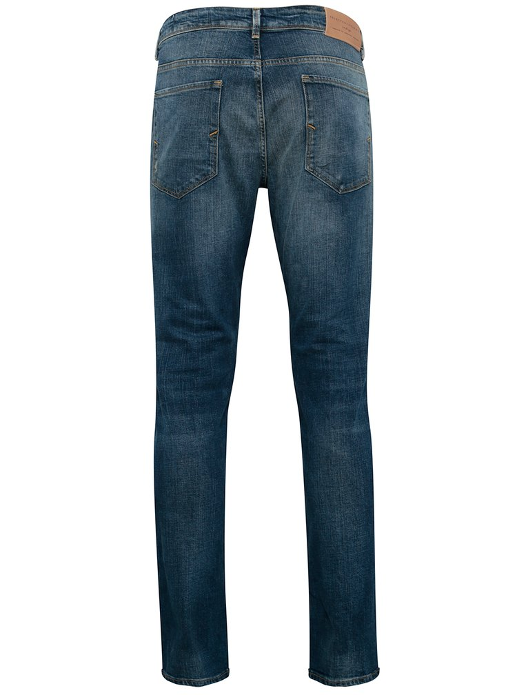 Blugi albastri slim fit barbati - Selected Homme Slim