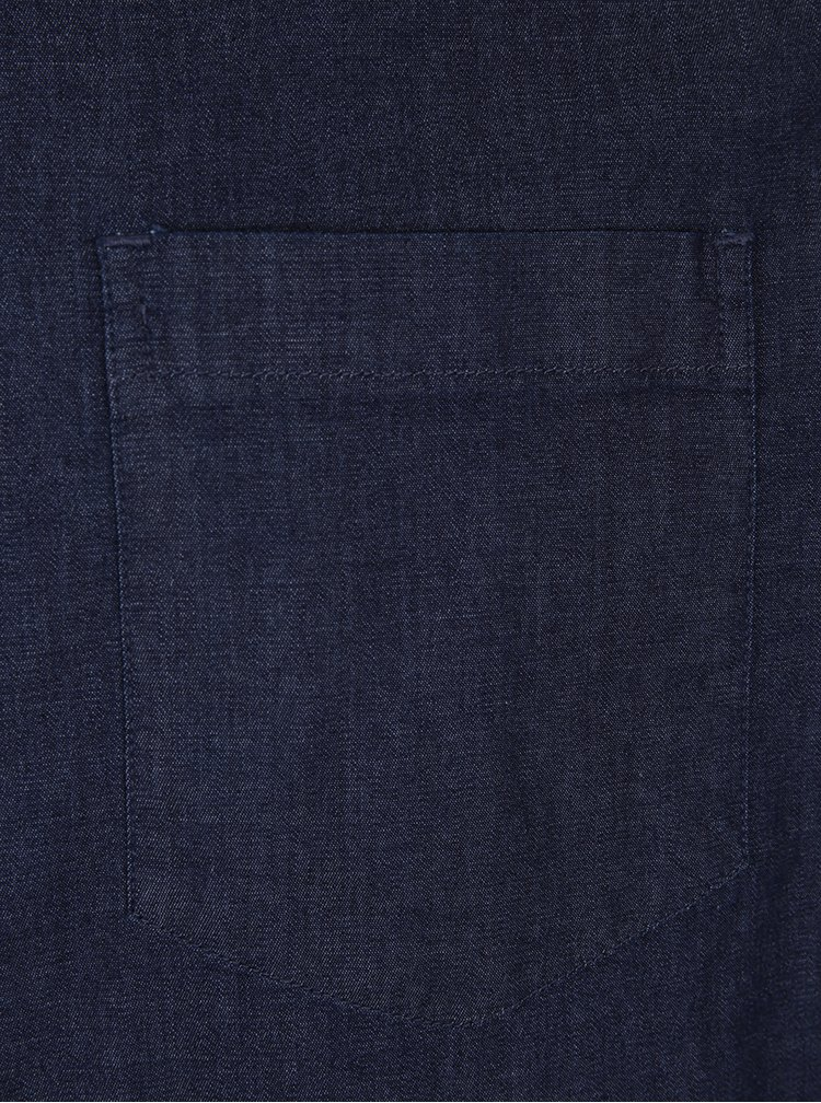 Camasa albastra cu nasturi albi - Burton Menswear London