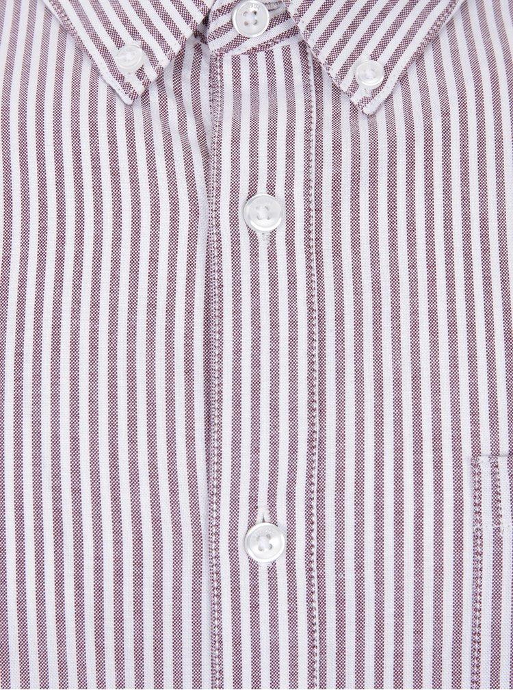 Cămașă crem & maro cu imprimeu cu dungi - Burton Menswear London
