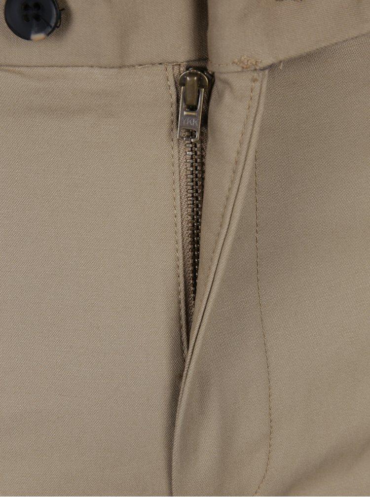 Béžové slim chino kalhoty Burton Menswear London