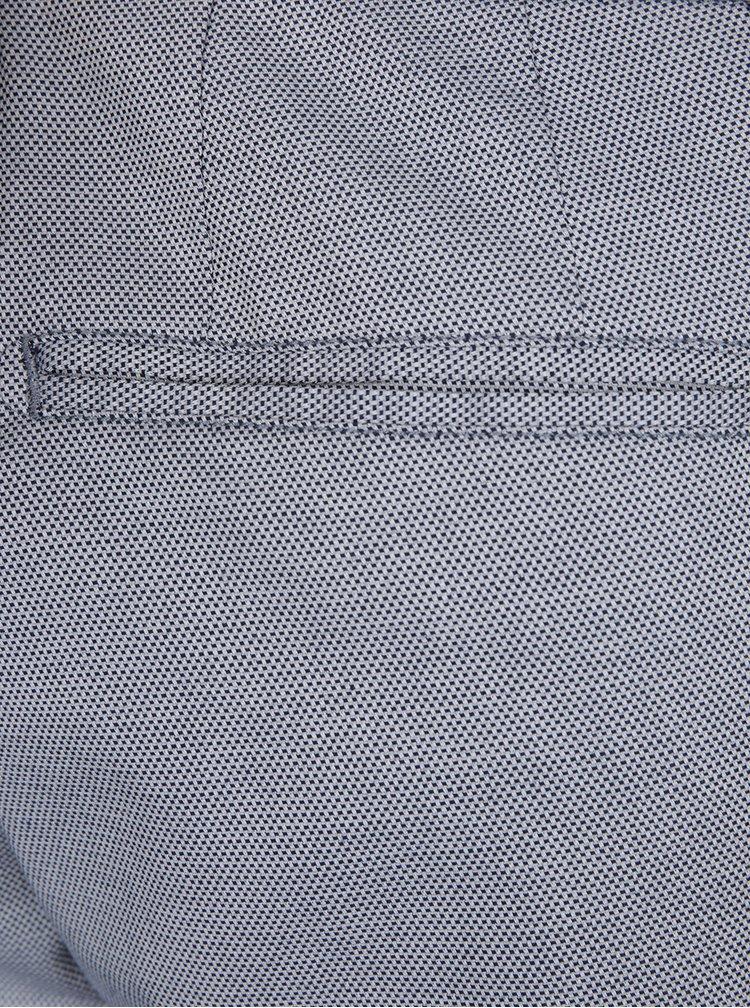 Šedé vzorované chino kraťasy Burton Menswear London