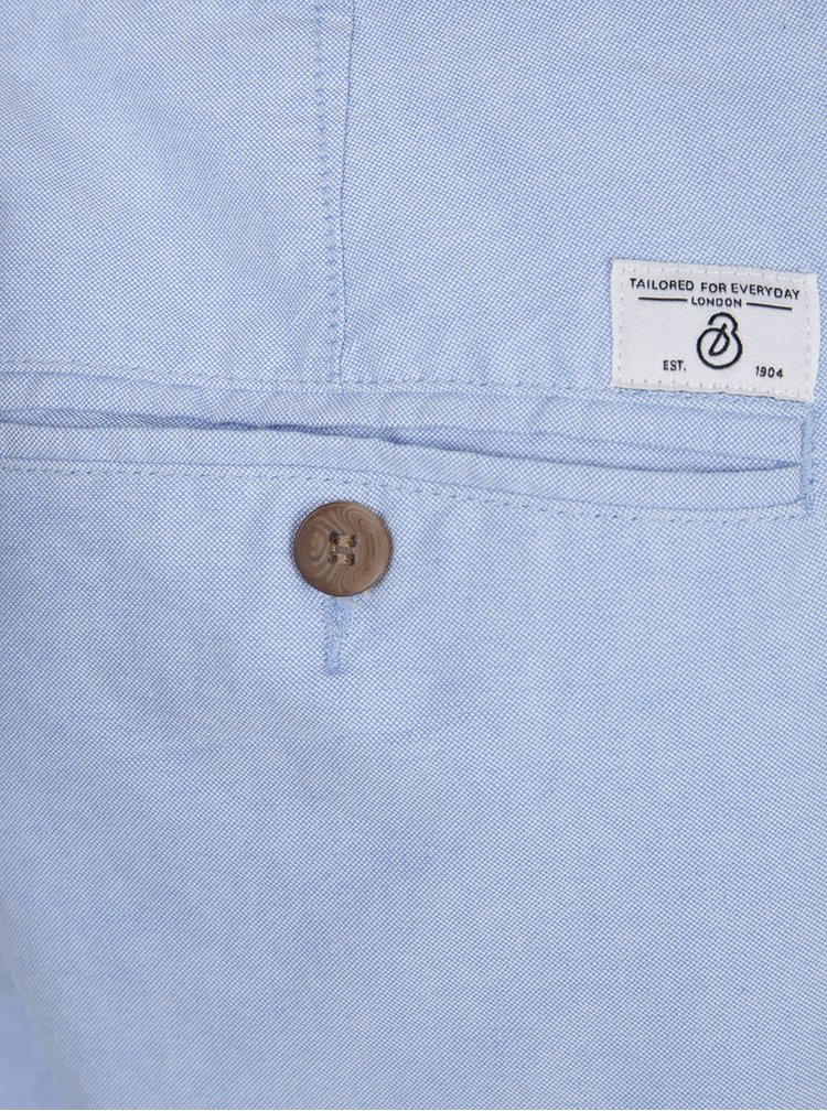 Světle modré chino kraťasy s páskem Burton Menswear London