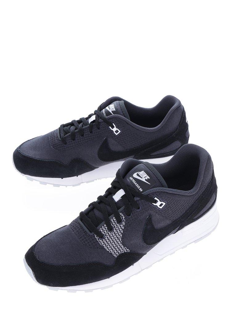 Černo-šedé pánské tenisky se semišovými detaily Nike Air Pegasus´89