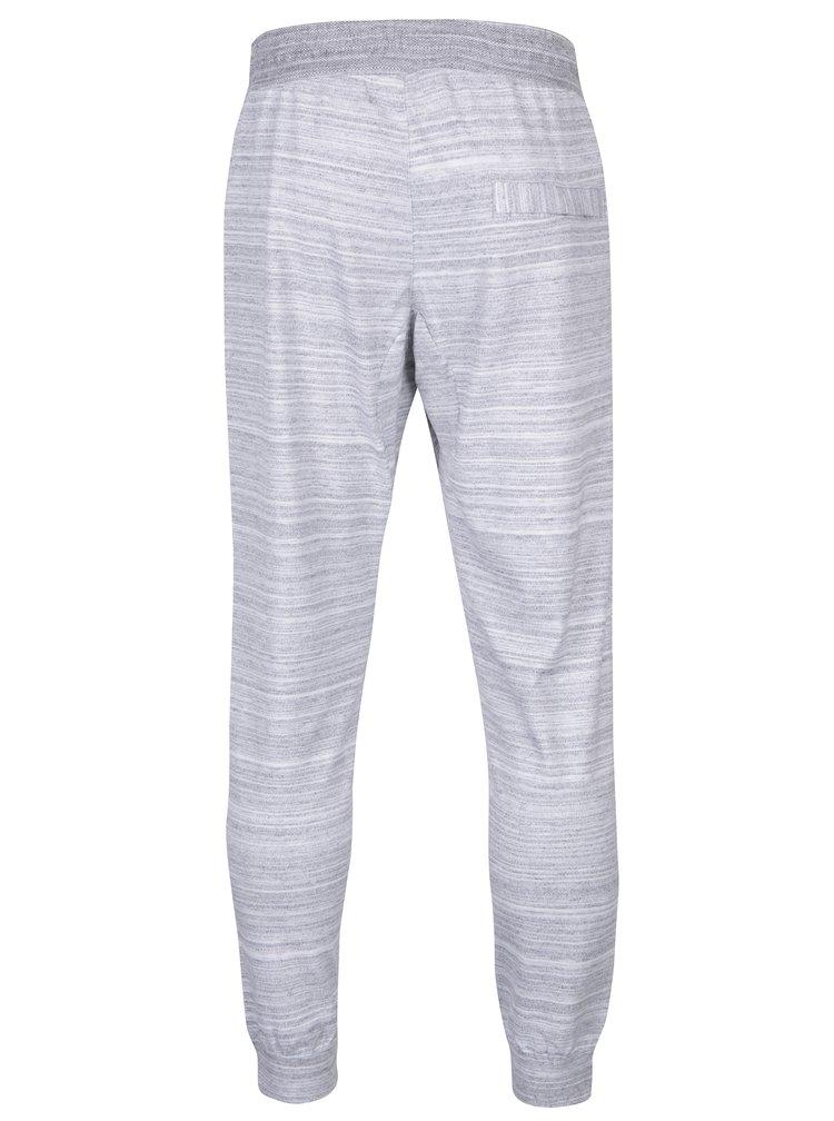 Pantaloni sport gri melanj deschis cu buzunare pentru barbati Nike