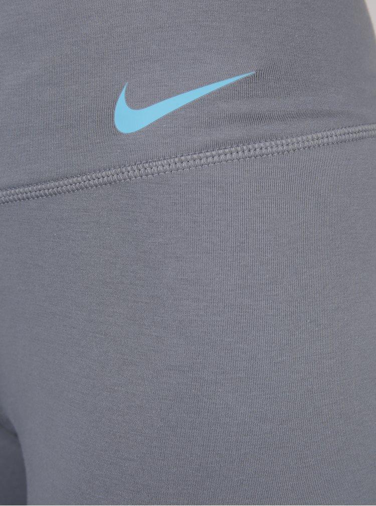 Colanți gri cu buzunar pentru femei Nike