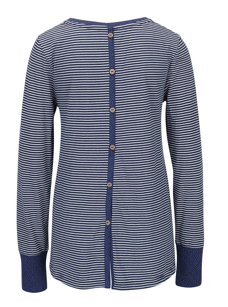 Bluza albastra cu dungi si fanta cu nasturi Ragwear Malina