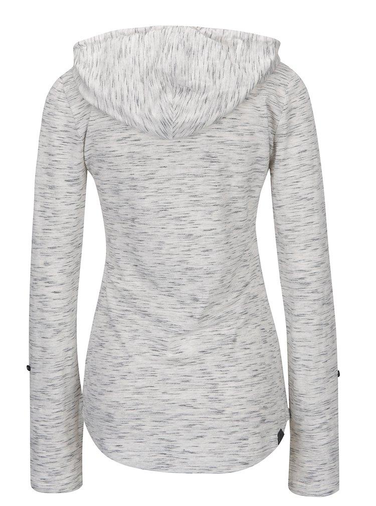 Světle šedé žíhané tričko s kapucí Ragwear Drop