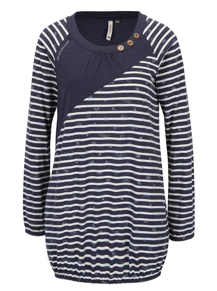 Tmavě modré pruhované dlouhé tričko Ragwear Linny Organic