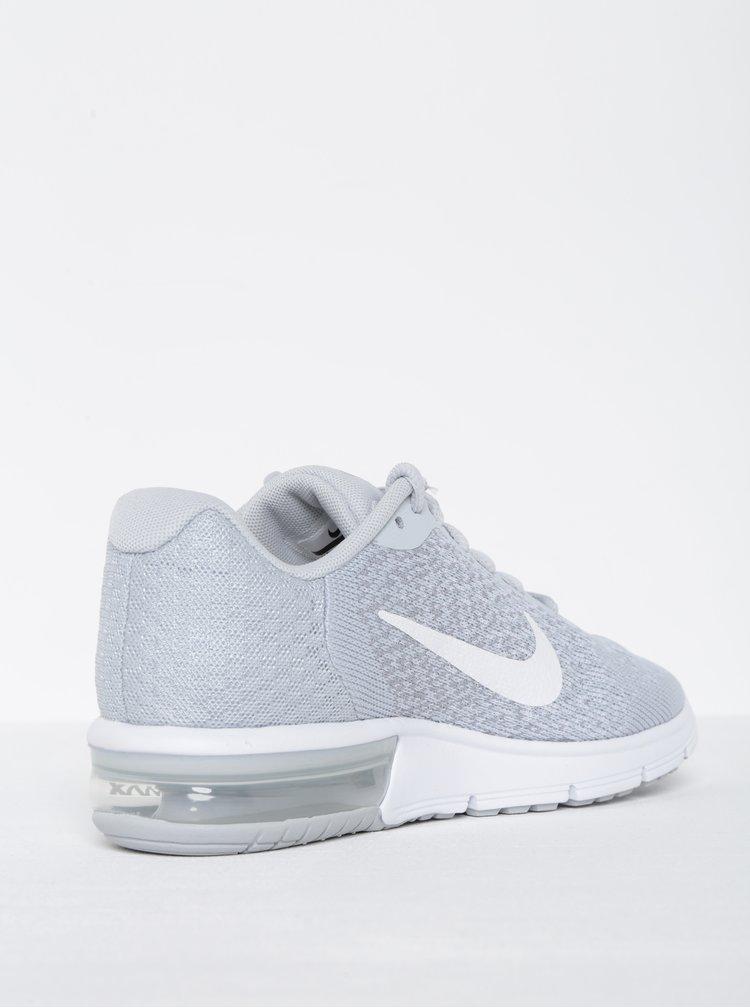 Pantofi sport gri deschis melanj pentru femei - Nike Air Max Sequent 2