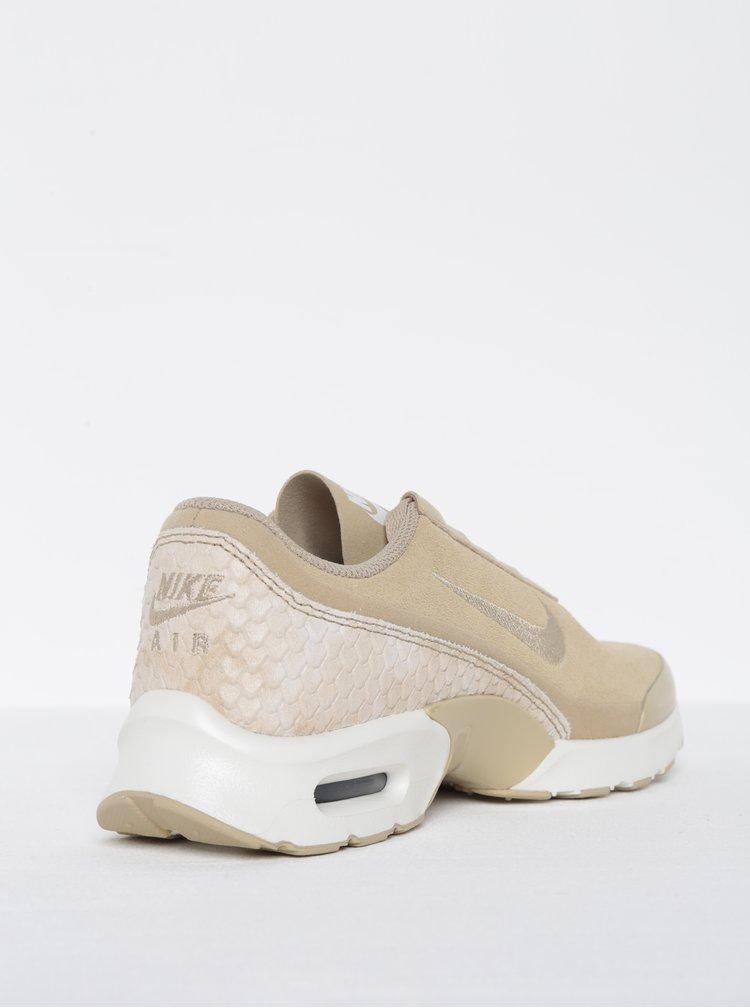 Béžové dámské semišové tenisky se strukturovanými detaily Nike Air Max Premium