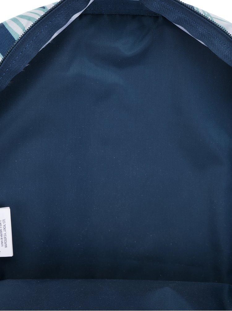 Krémovo-petrolejový batoh s motivem listů Roxy Carribean