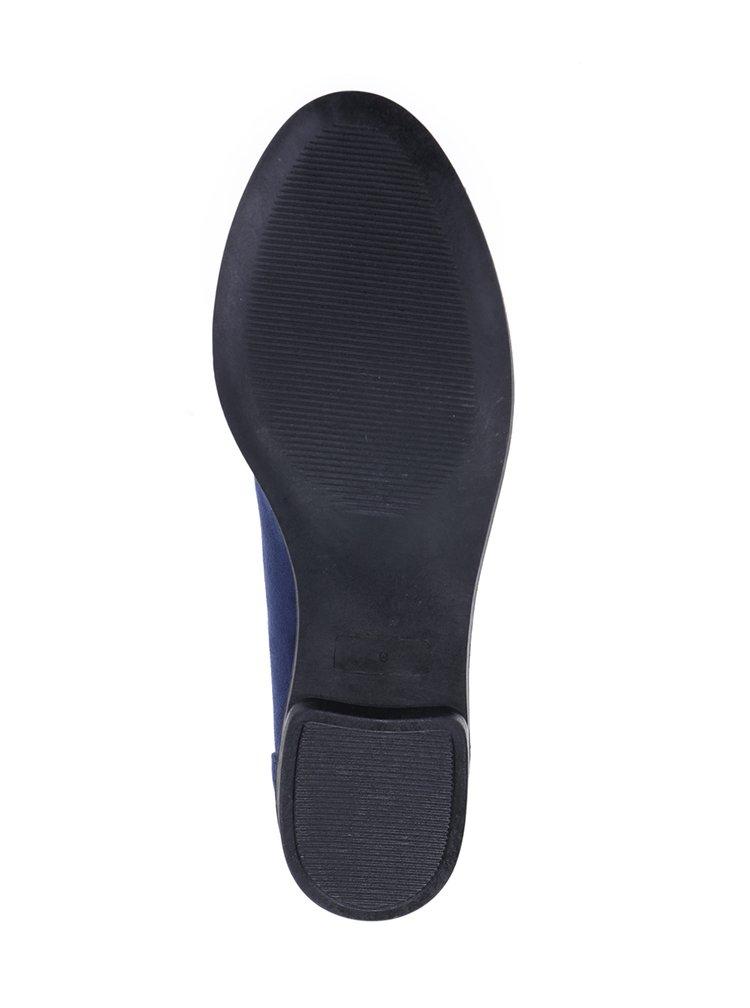 Tmavě modré mokasíny v semišové úpravě s aplikací ve zlaté barvě Dorothy Perkins