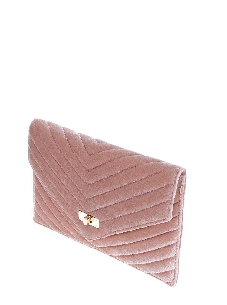 Geantă plic roz din catifea - Dorothy Perkins