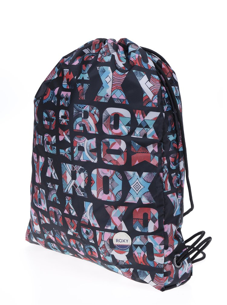 Rucsac negru cu logo imprimat -  Roxy Light as a Feat
