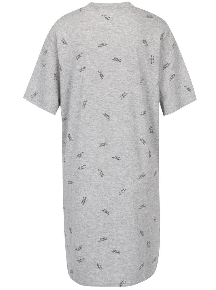 Šedé volné šaty s potiskem Cheap Monday Smash